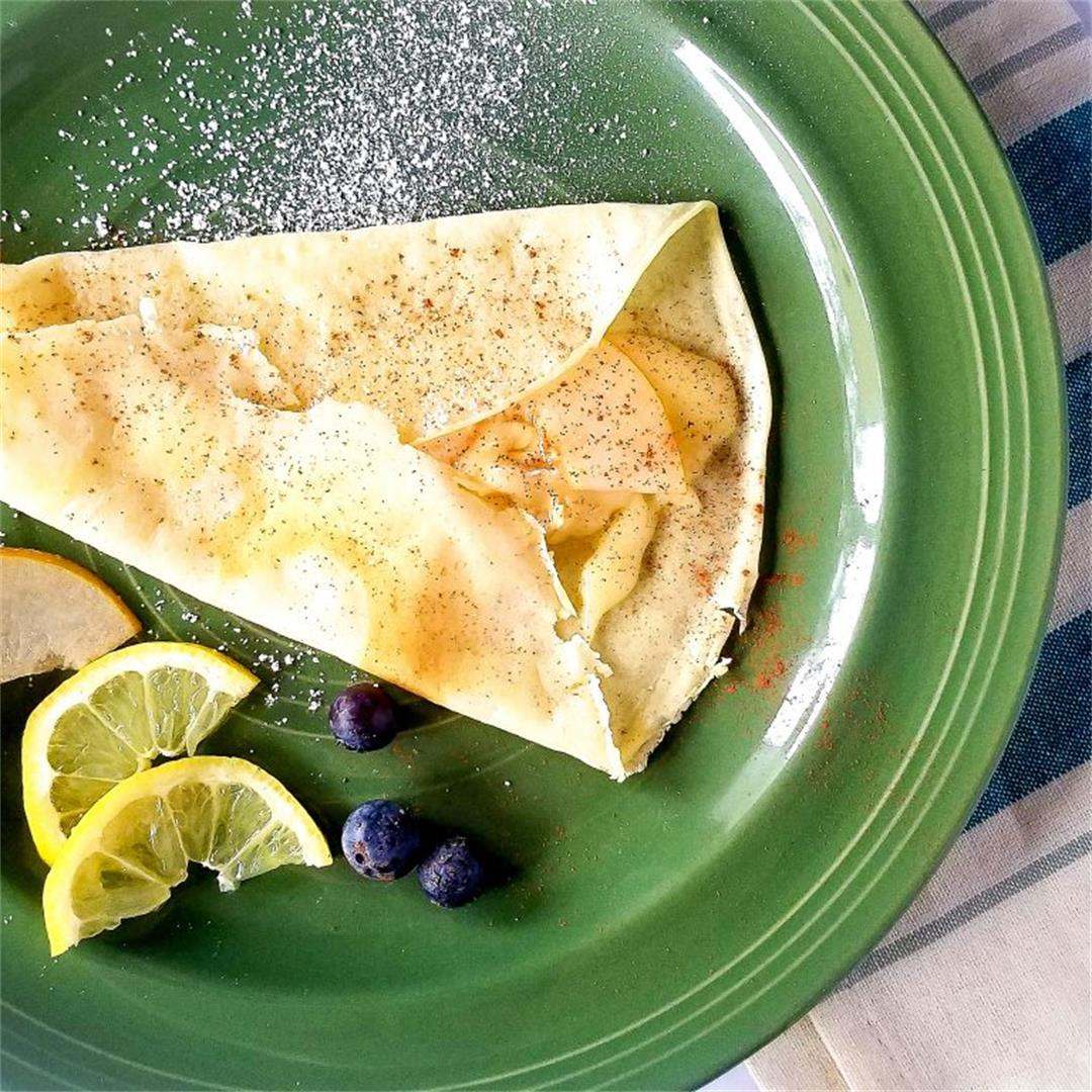 Asian Pear, Brie, and Cinnamon Crepes