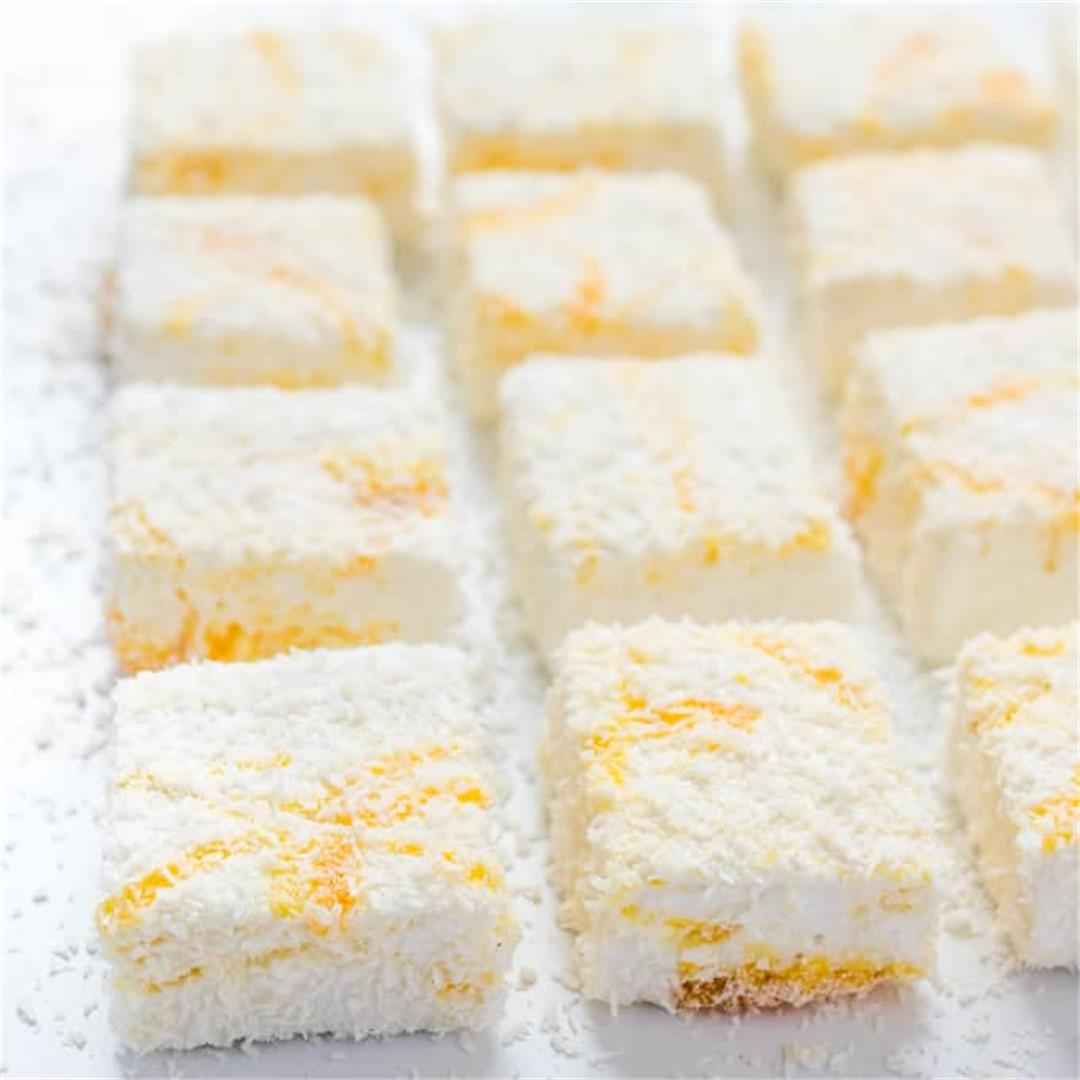 Lemon Curd and Coconut Marshmallows
