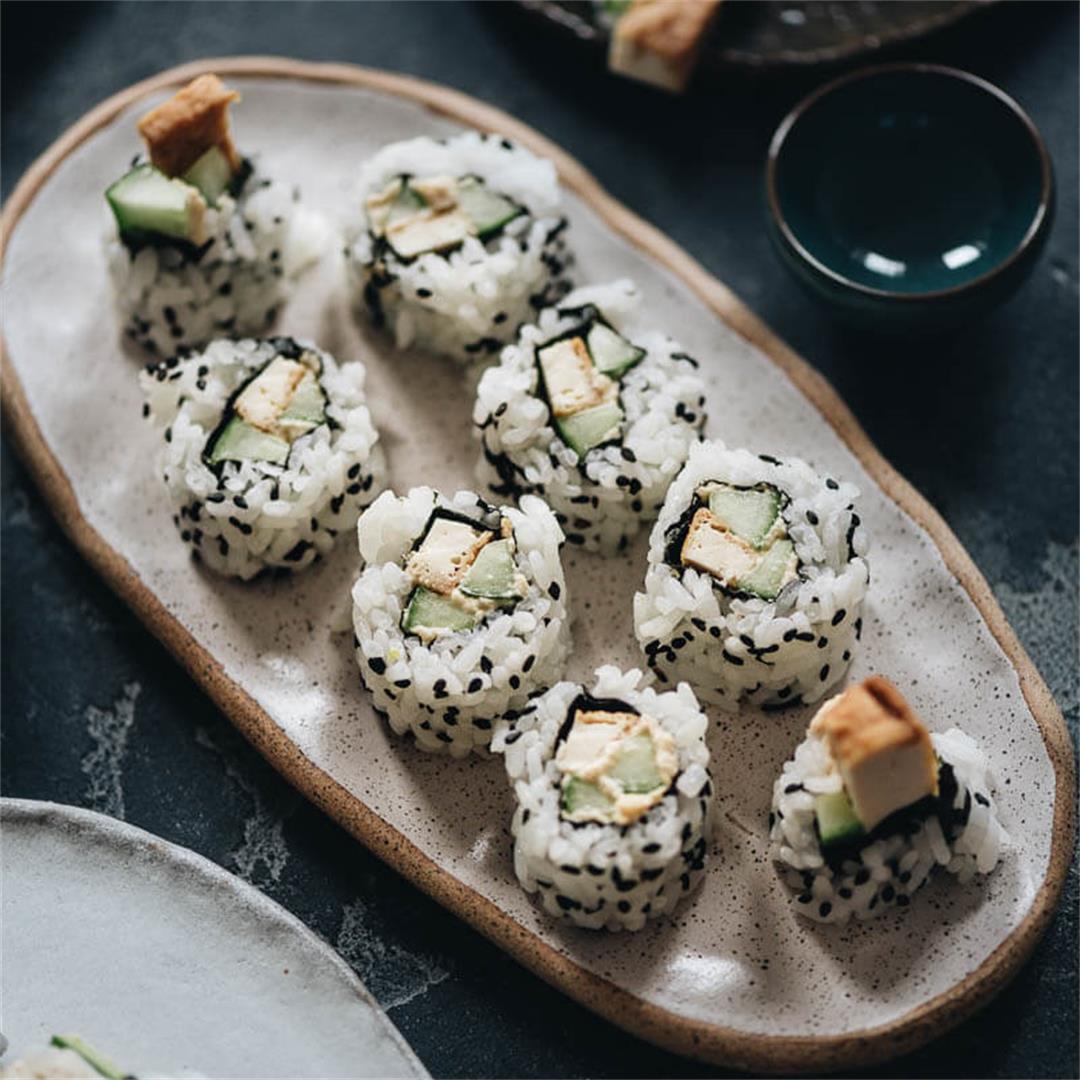 Lemon Tofu Sushi