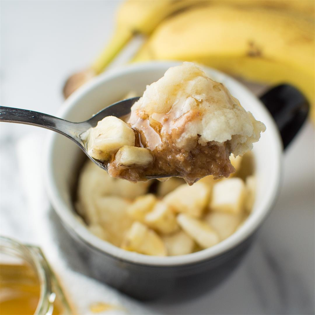 Honey Peanut Butter Banana Mug Cake