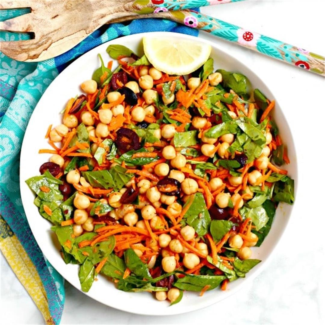 Mediterranean Chickpea Salad with Carrots