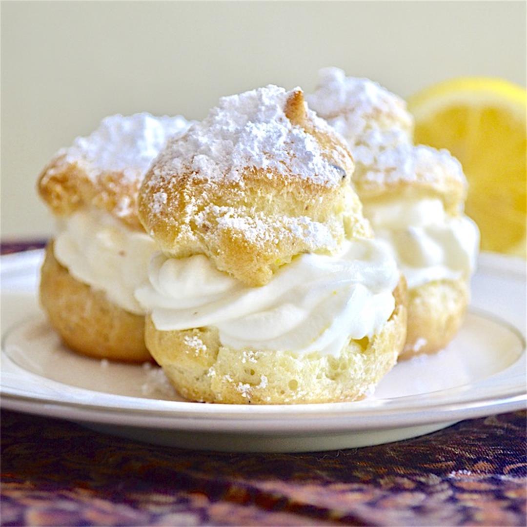 Lemon Lavender Cream Puffs - Jeanie and Lulu's Kitchen