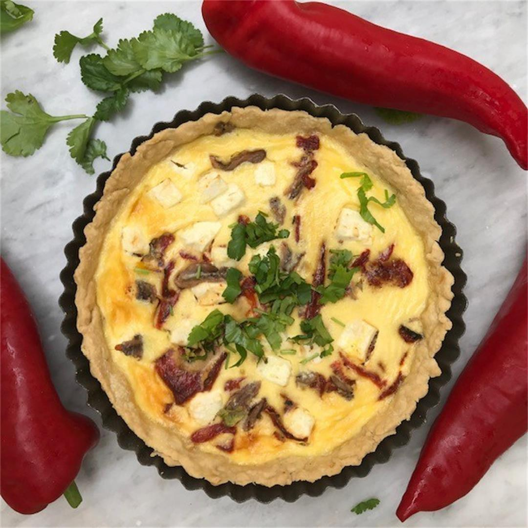Feta Quiche with Roasted Peppers
