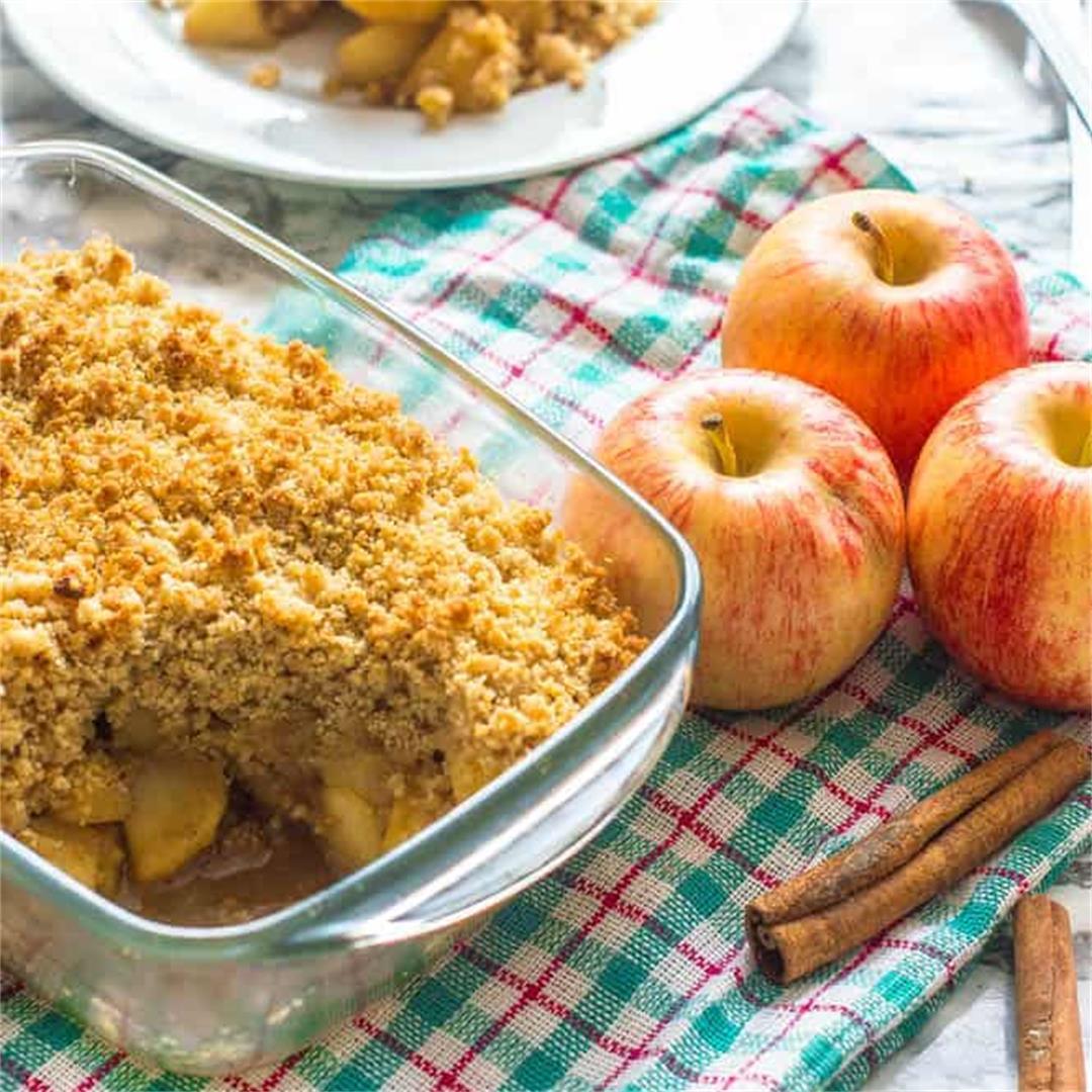 Gluten free apple crisp (Keto, Vegan and Paleo)