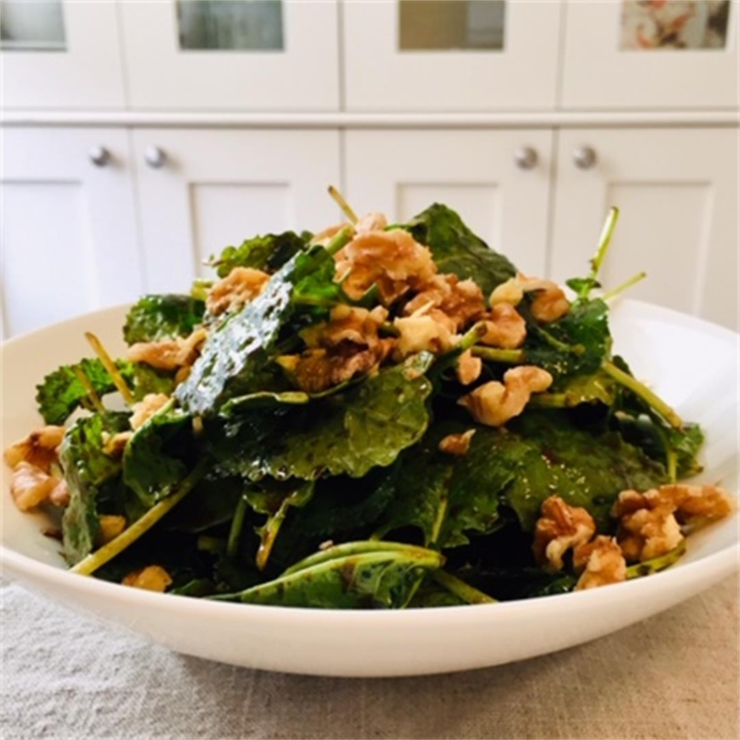 Baby Kale Salad With Sweet Balsamic Vinaigrette