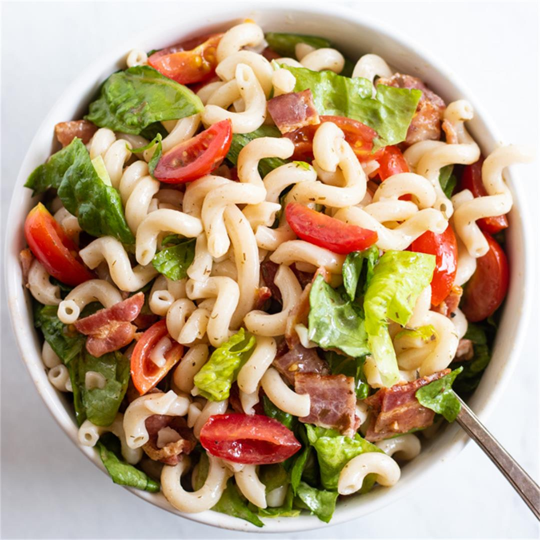 Low FODMAP BLT Pasta Salad