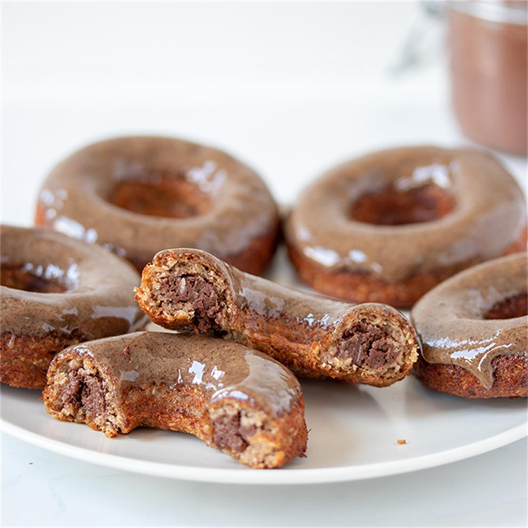 Baked Donuts Filled With Healthy Nutella
