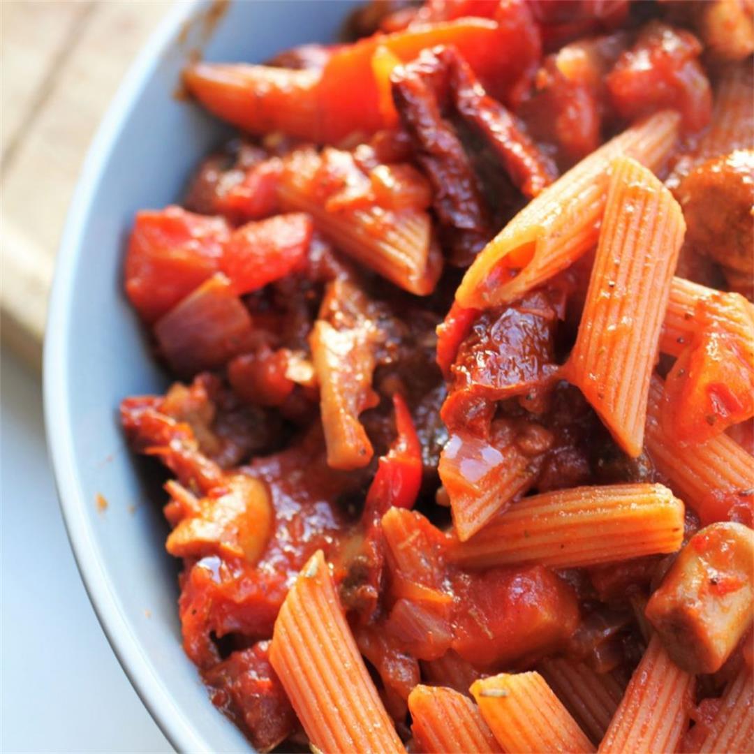 Vegan Garlic Mushroom Pasta Recipe
