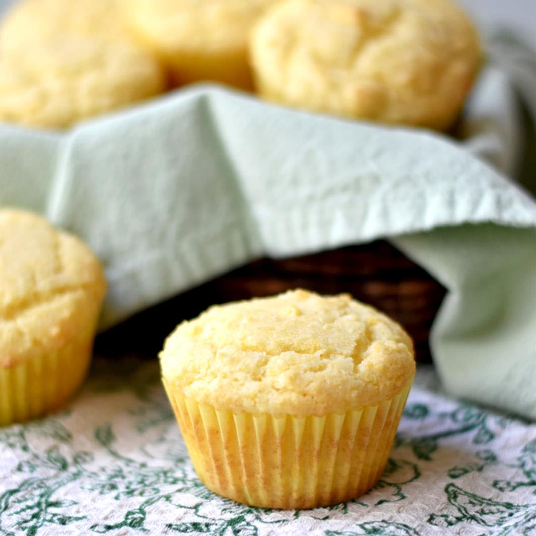 Easy Sweet Cornbread Muffins (Gluten Free)