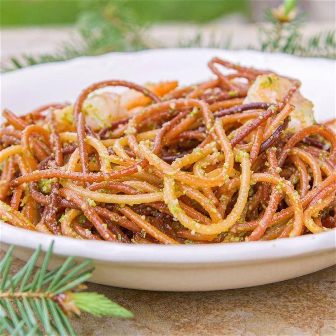 Spruce Tips Pesto (use in place of basil pesto)| Hilda's Kitche