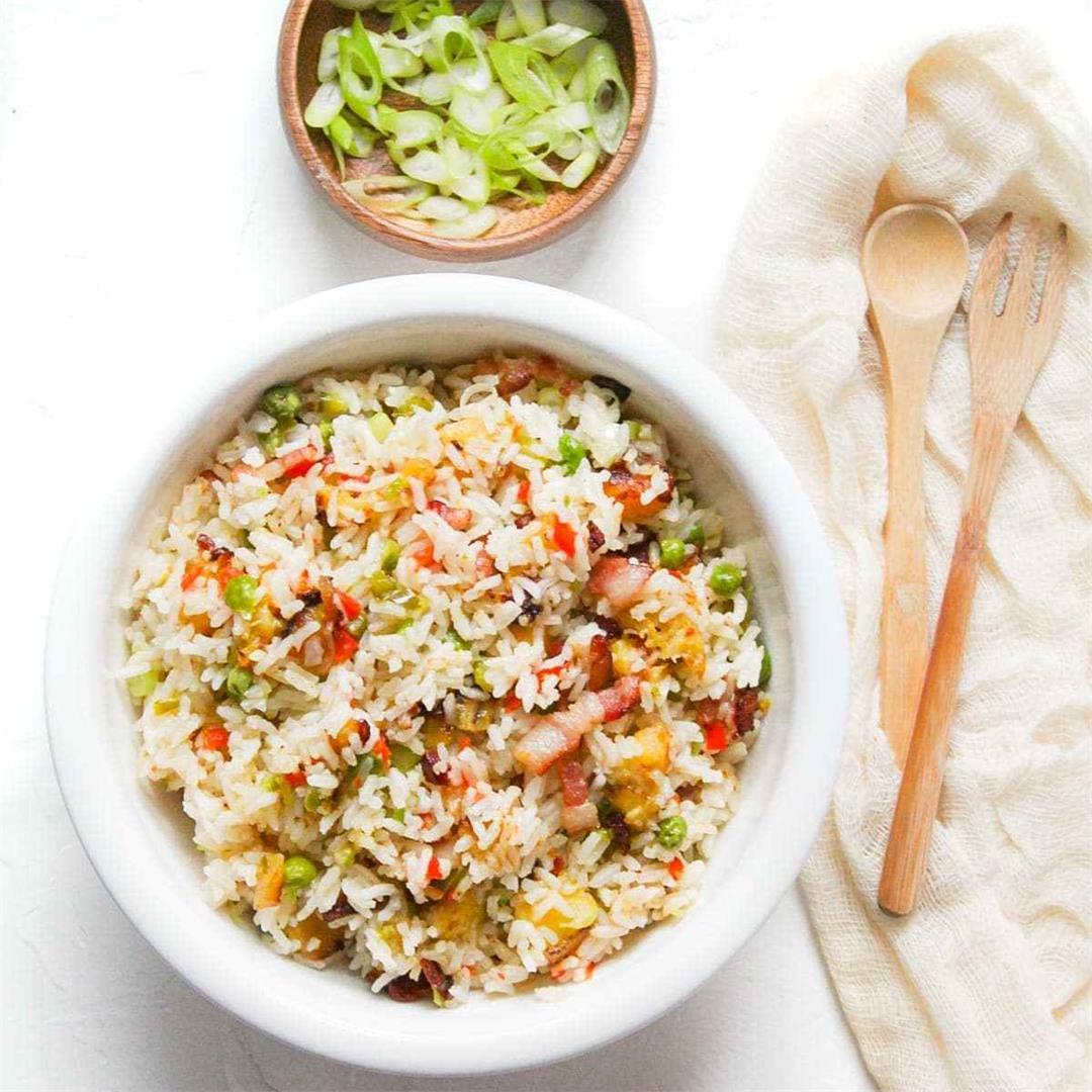 Spring White Rice • A Scrumptious Bite