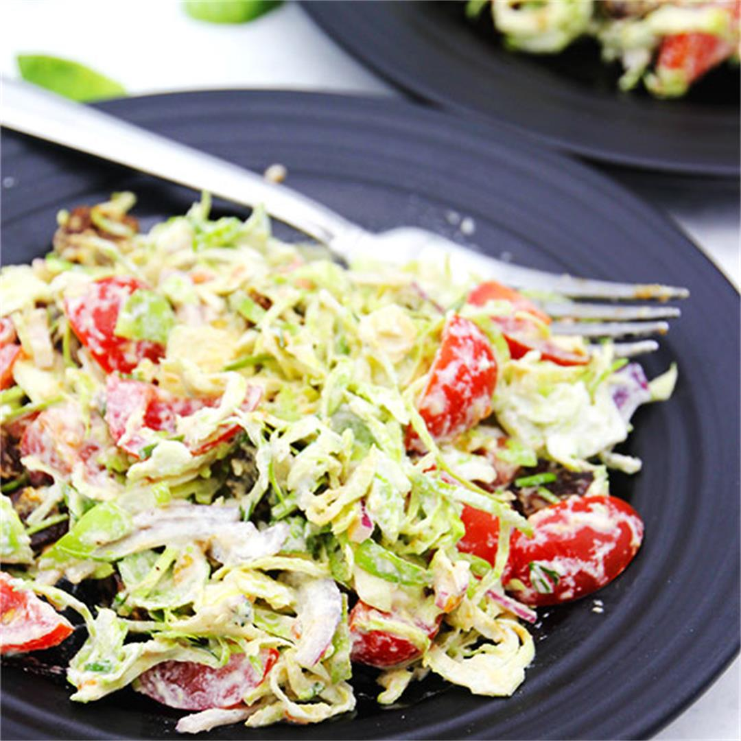 Sprouts, bacon & ranch salad