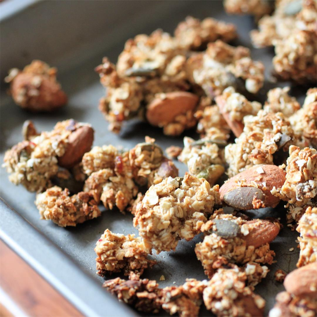 Refined Sugar Free Nutty Granola Recipe