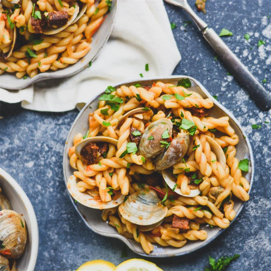 Spanish Clam and Chorizo Pasta — Wanderings in My Kitchen