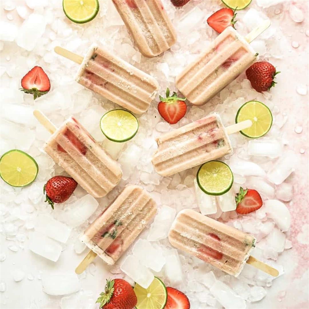 Creamy Rosé Sangria Popsicles