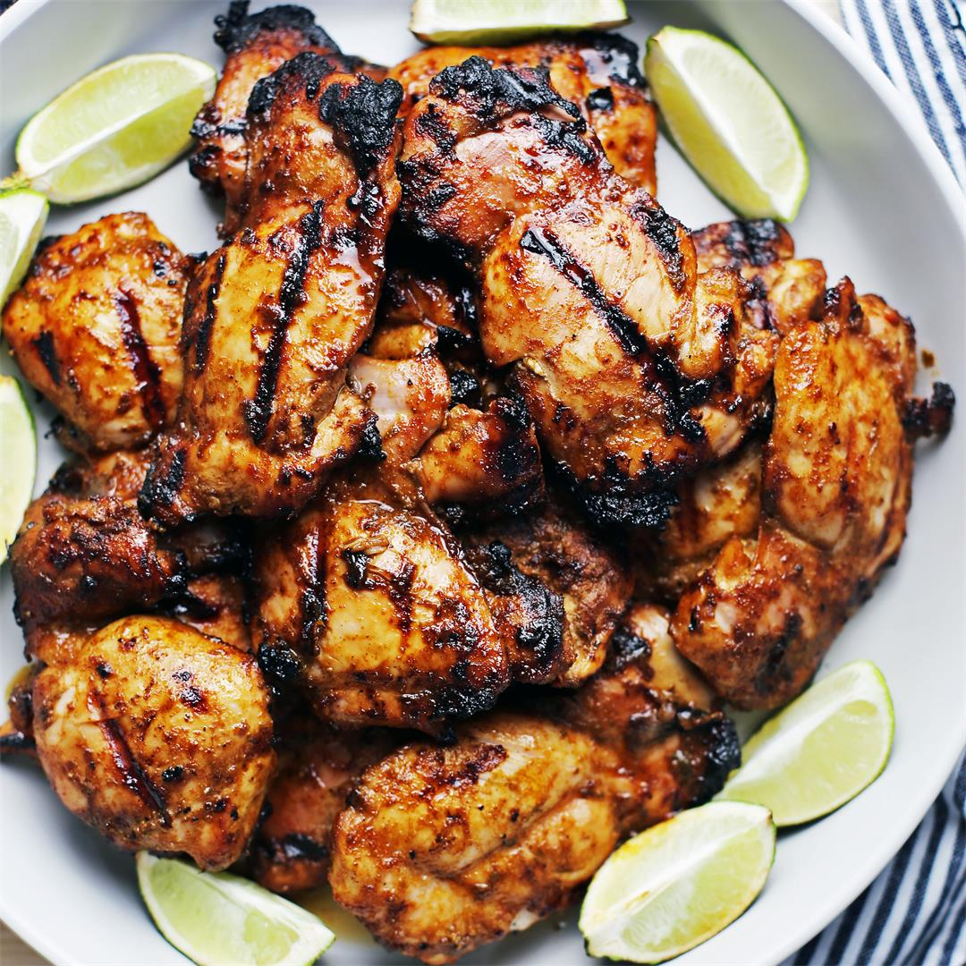 Grilled Chili Lime Chicken Thighs