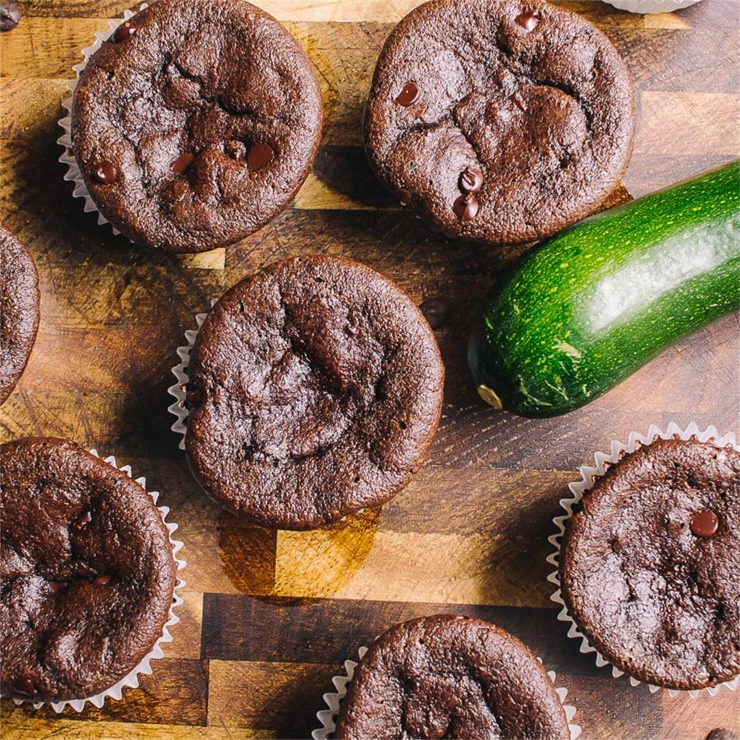 Low Carb Chocolate Zucchini Muffins