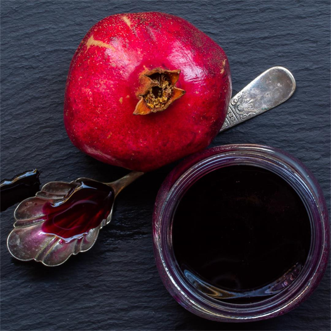 Grenadine: homemade pomegranate juice & molasses, rose water