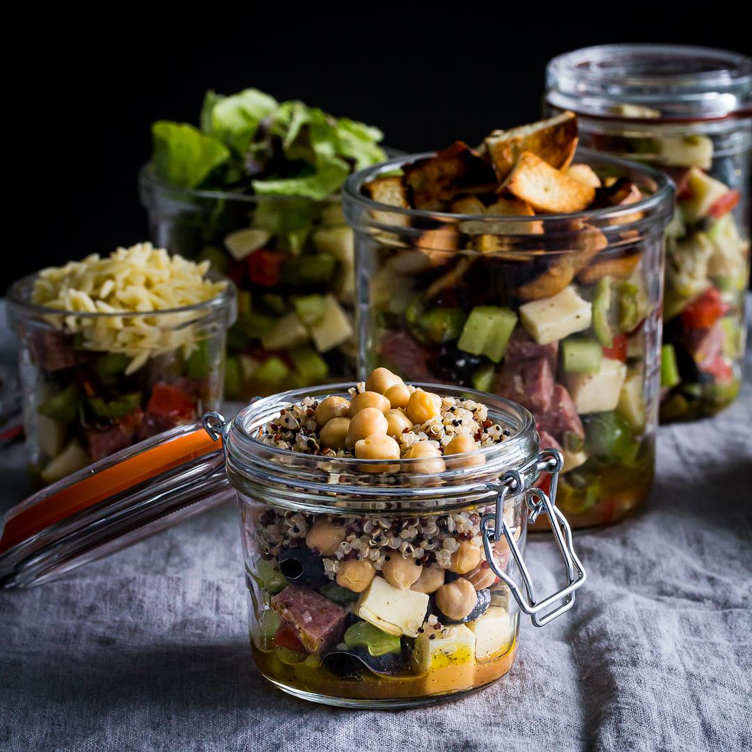 Summer Antipasto Salad in a Jar