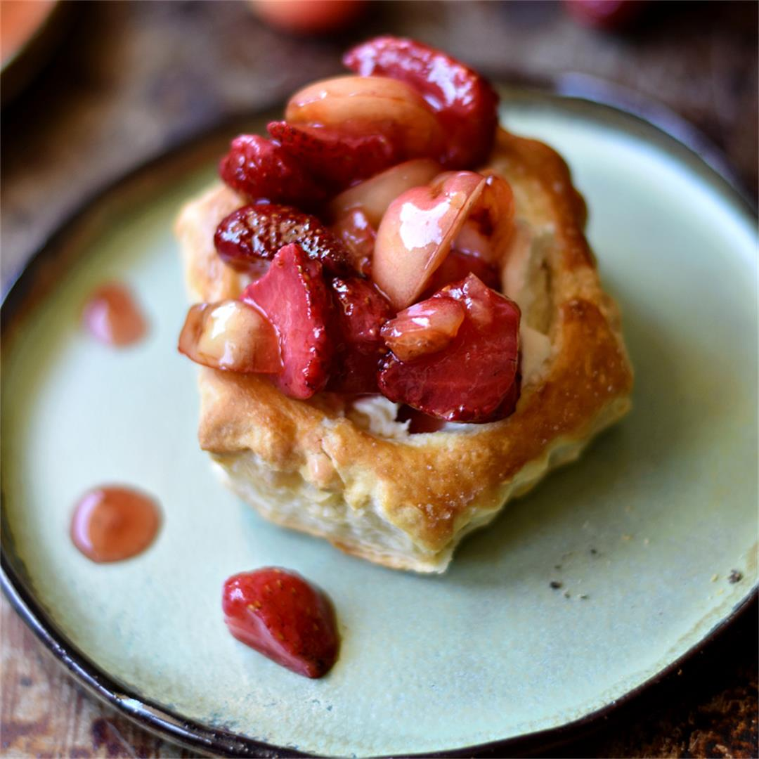 Summer Fruit Puff Pastry Dessert