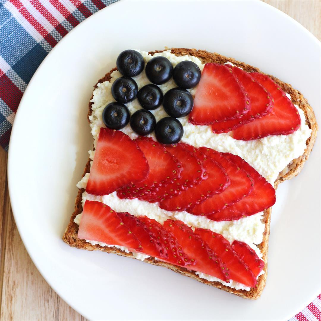 Berry Flag Toast