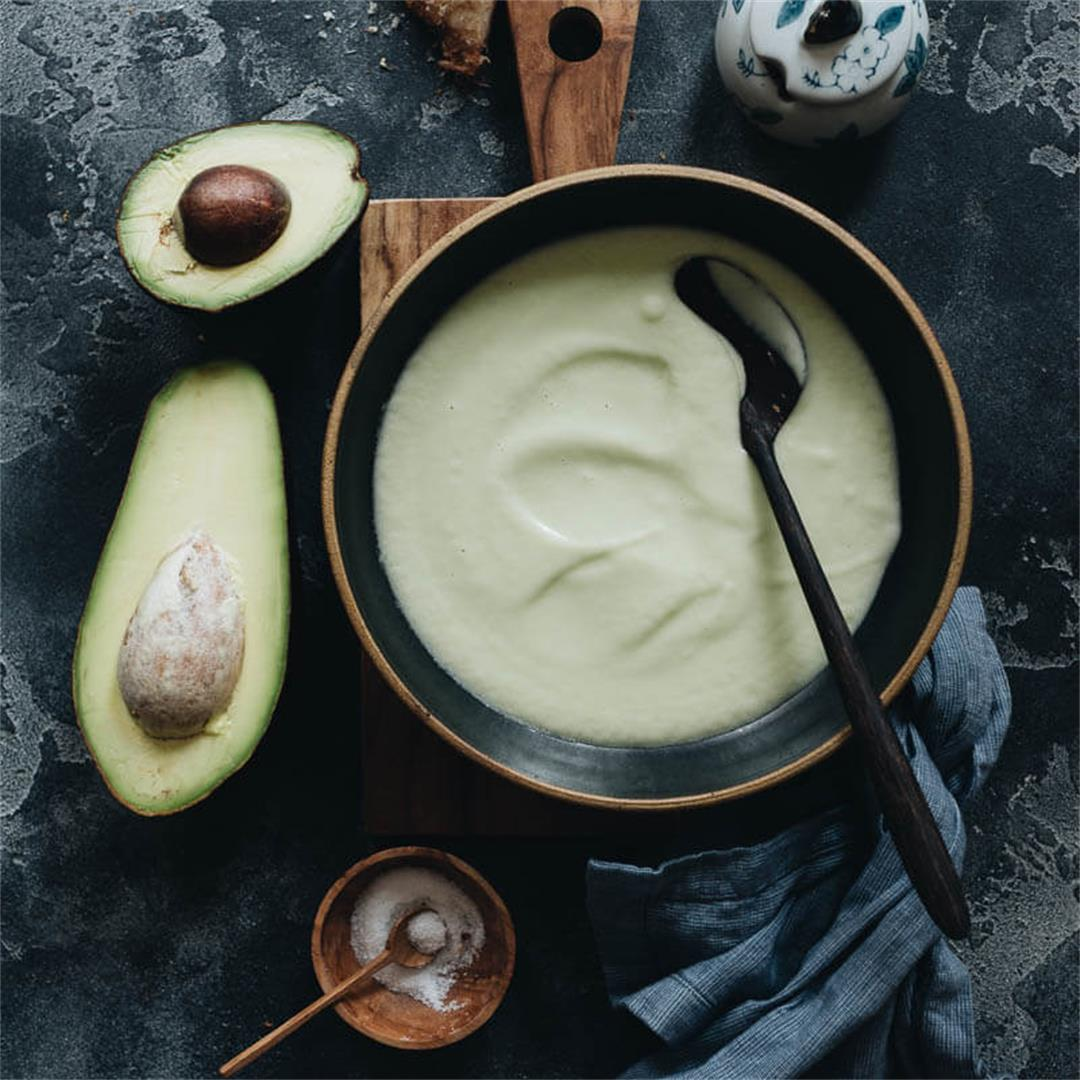 Chilled Coconut Avocado Soup