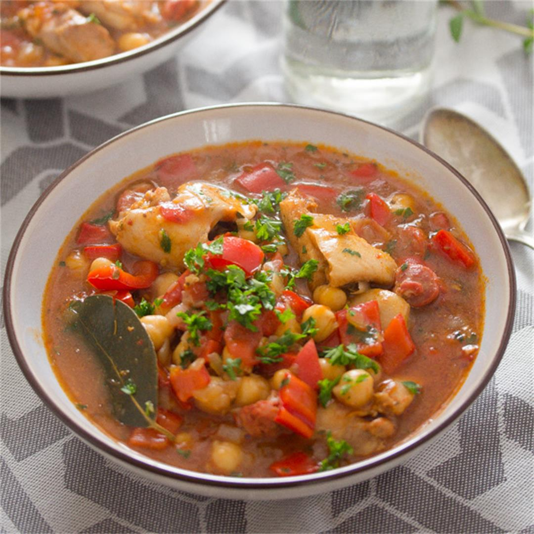 Chicken and Chorizo Stew – Spanish Stew