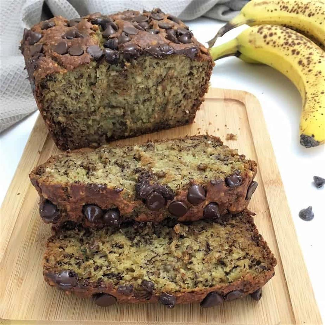 Chocolate Chip Vegan Banana Bread