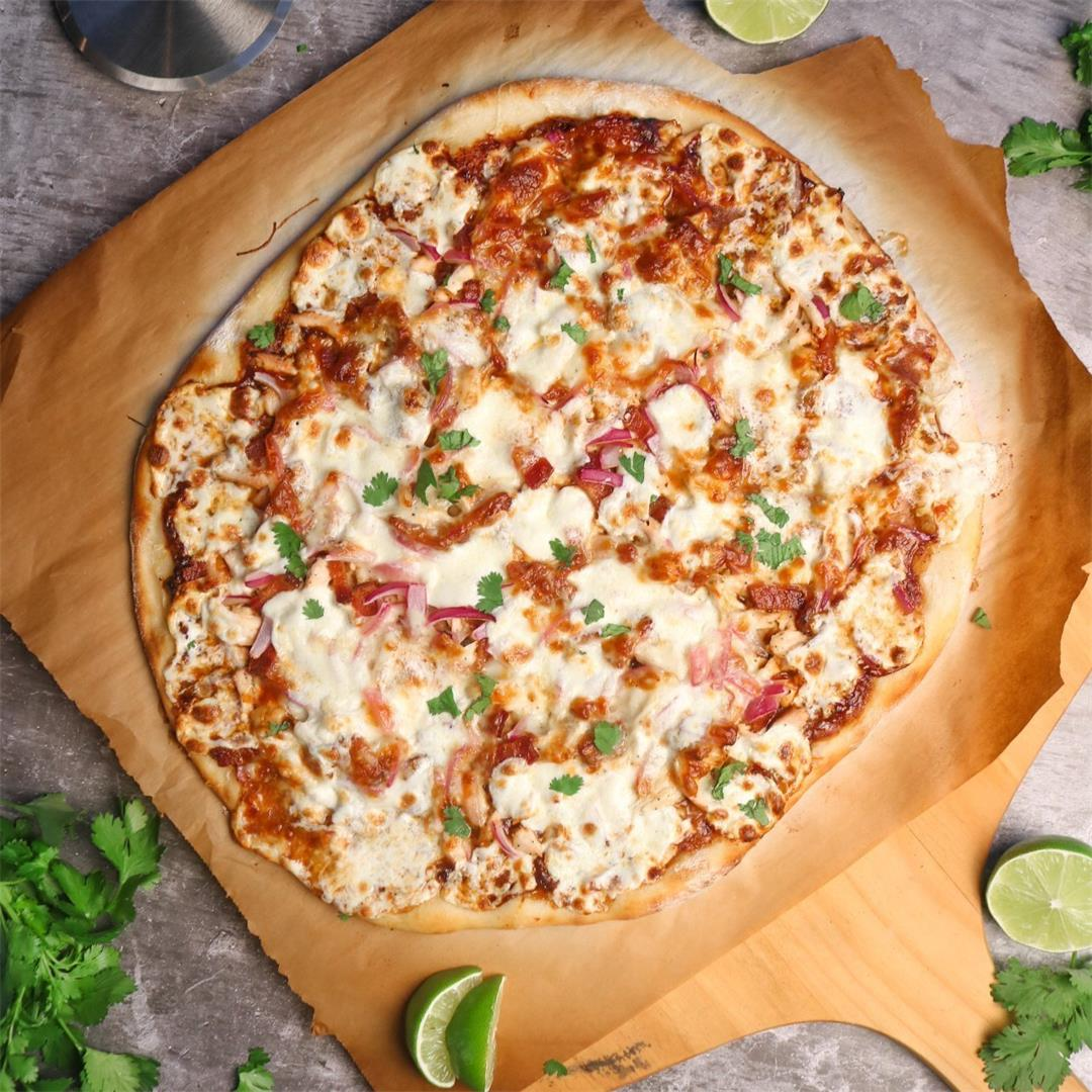 BBQ Chicken Pizza with Sourdough Crust