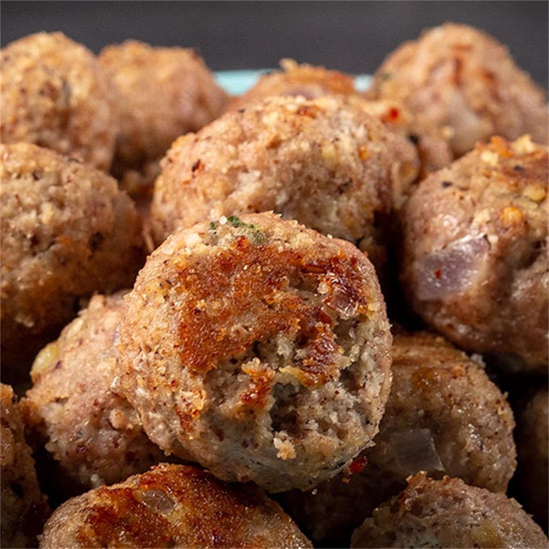 Garlicky Turkey Meatballs (gluten free)