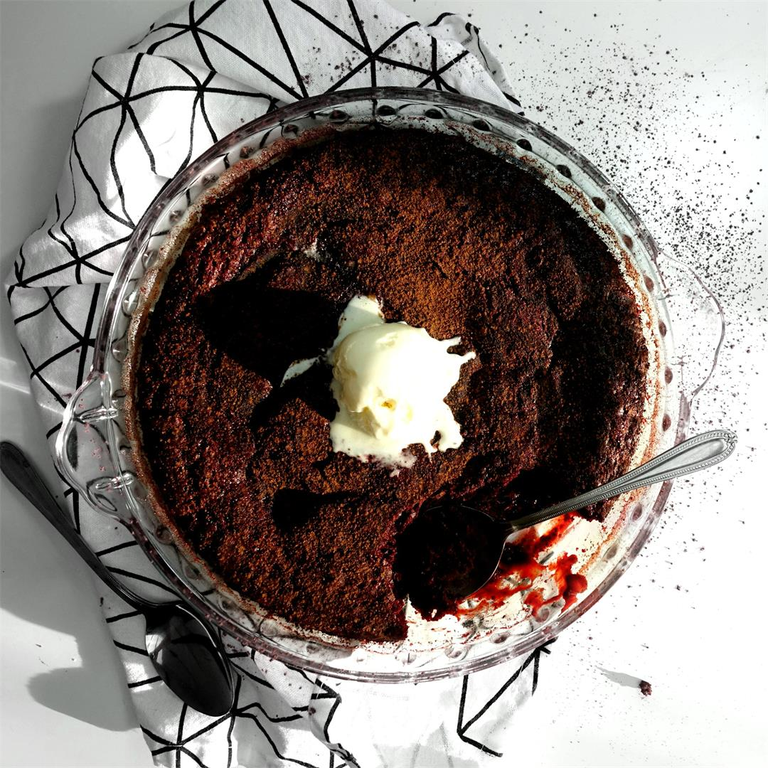 Beetroot Red Velvet Self Saucing Pudding