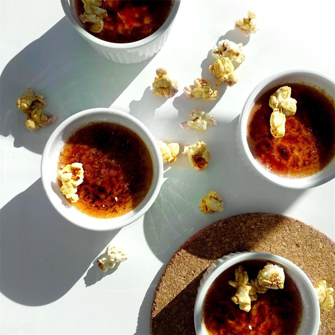 Sweet Corn Caramel Creme Brulee