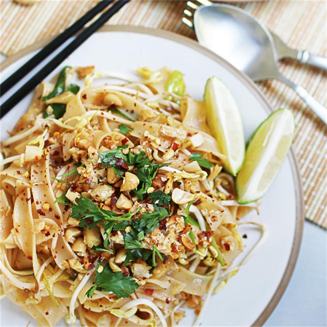 Quick and easy Pad Thai noodles