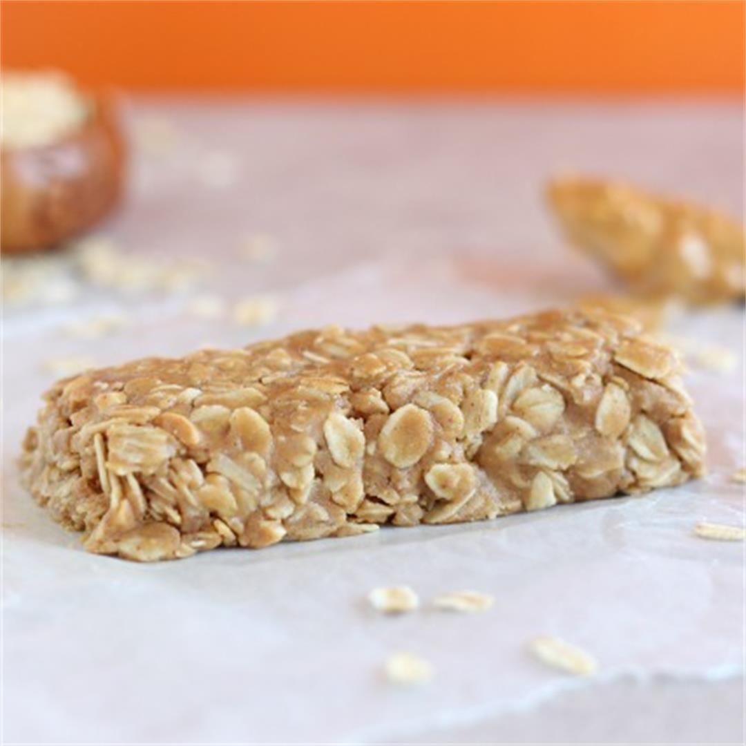 No-Bake Peanut Butter Granola Bar for One
