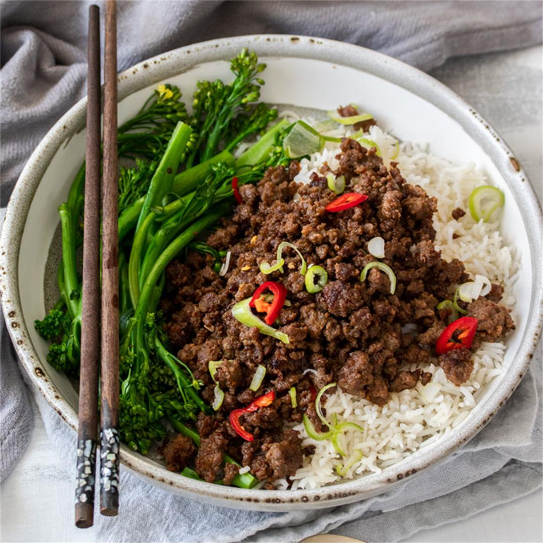 Crispy Asian Chilli Beef Mince