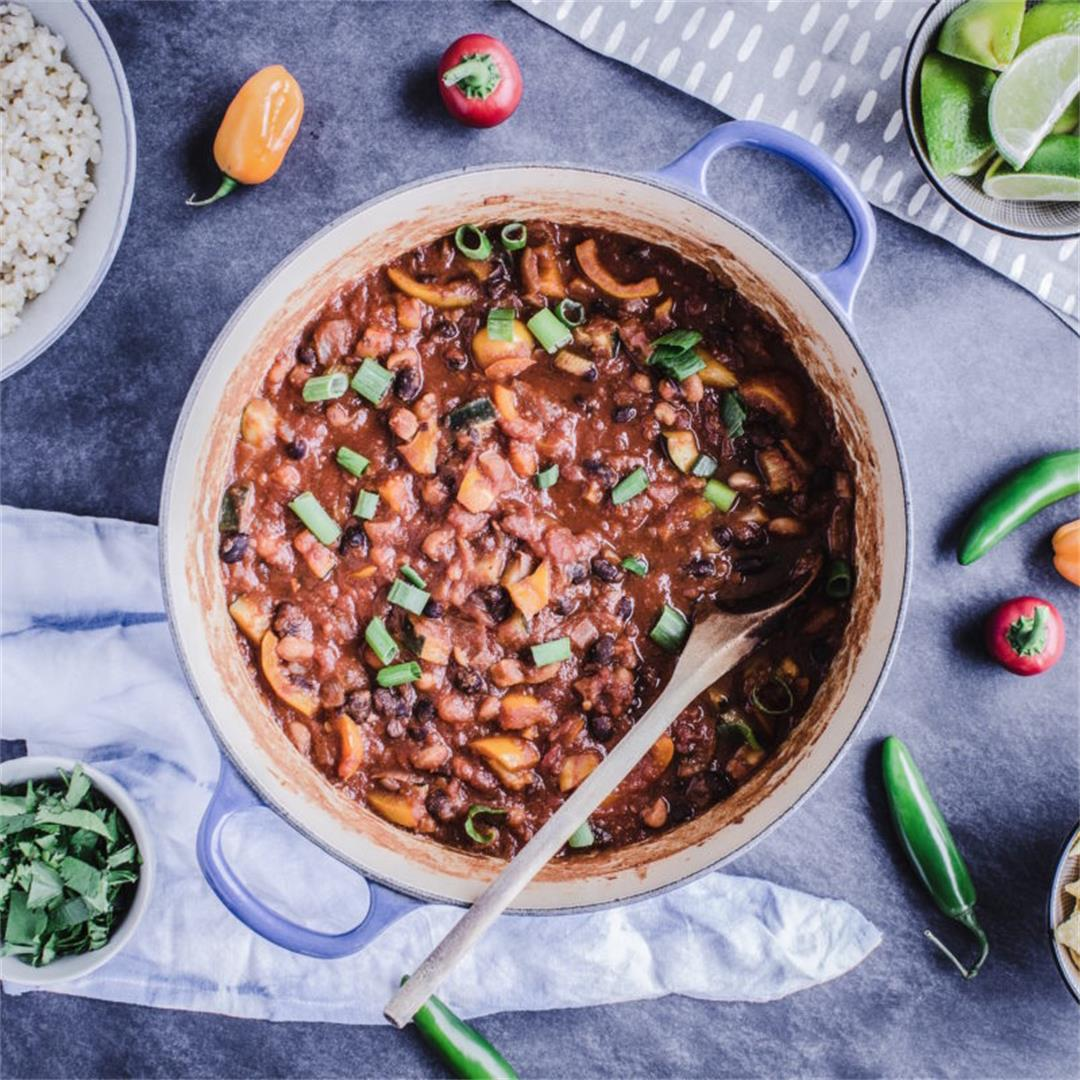 Vegan Meal Prep & Warming Bean Chili (gf)