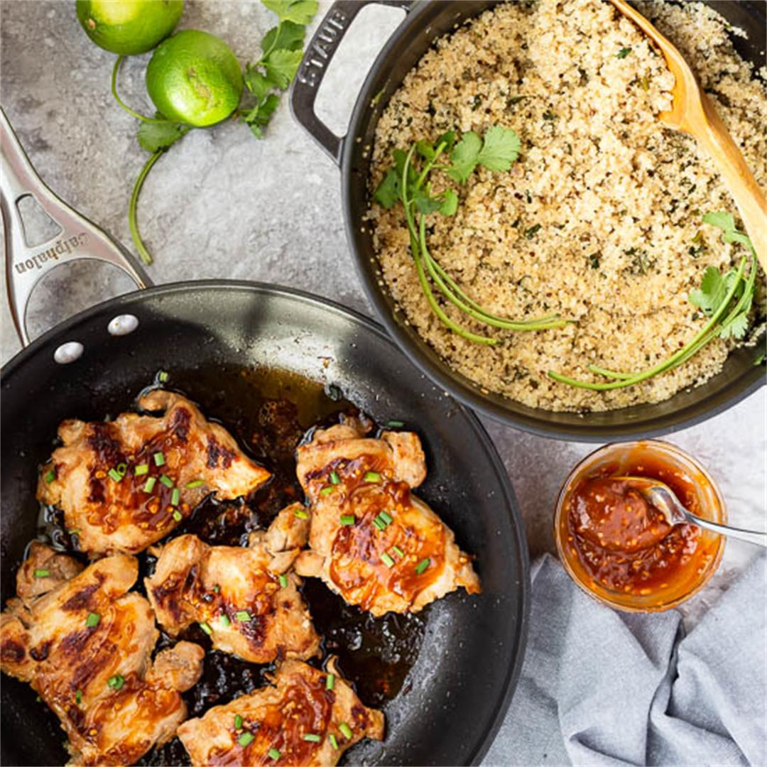 Sriracha Honey Chicken Thighs