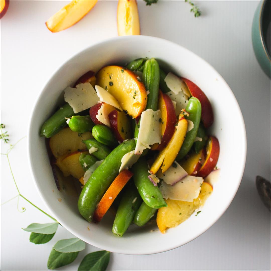 Peach and Snap Pea Salad