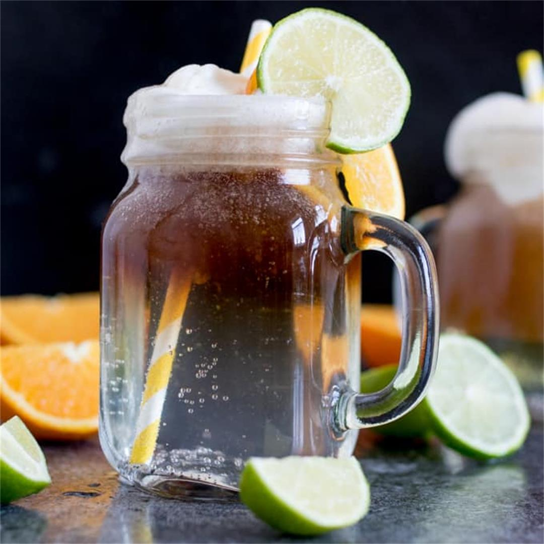Spiced Rum Float