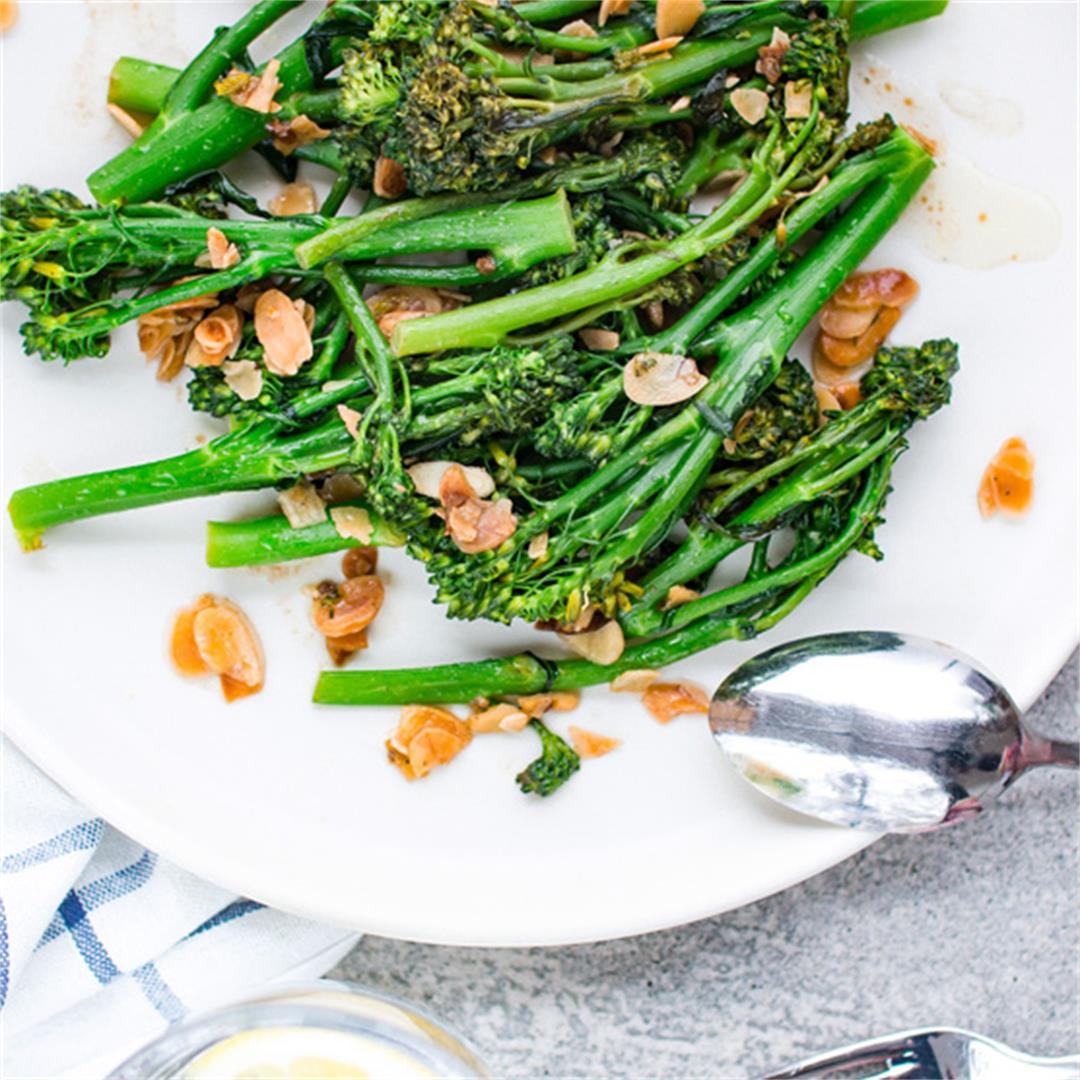 Tenderstem broccoli with garlic & almond