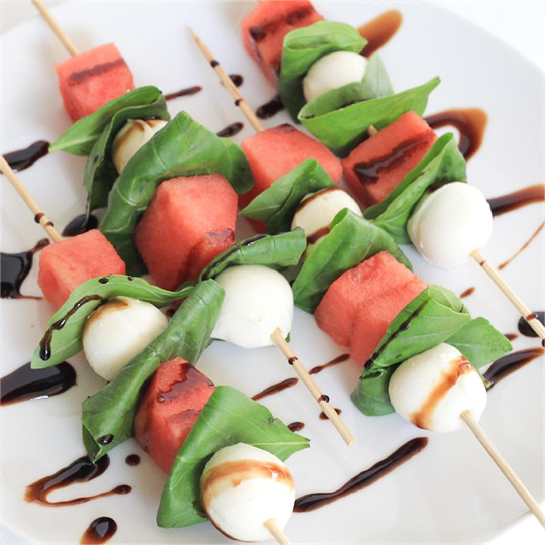 Watermelon Balsamic Skewers