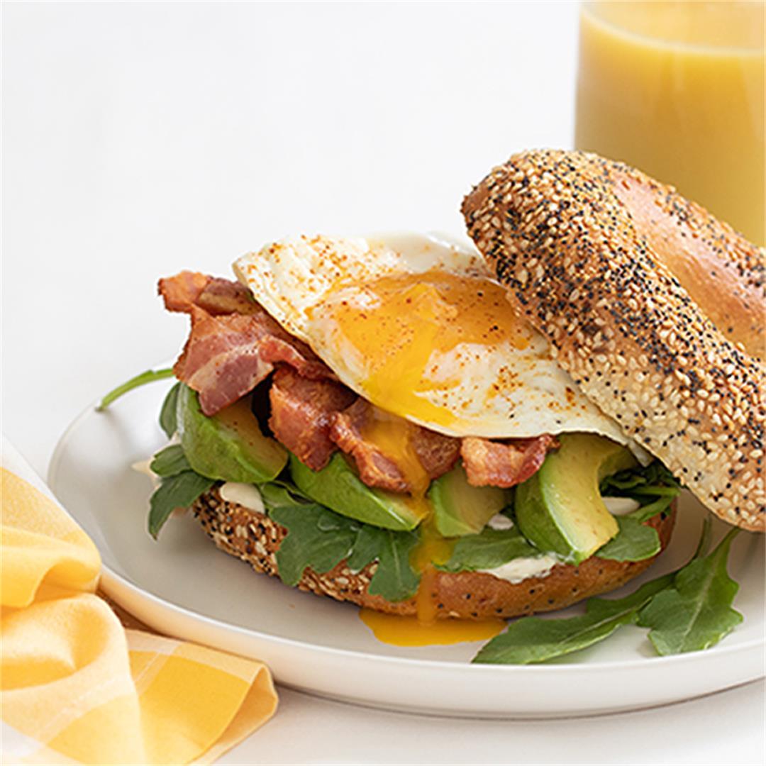 Bacon Egg Avocado Breakfast Sandwich