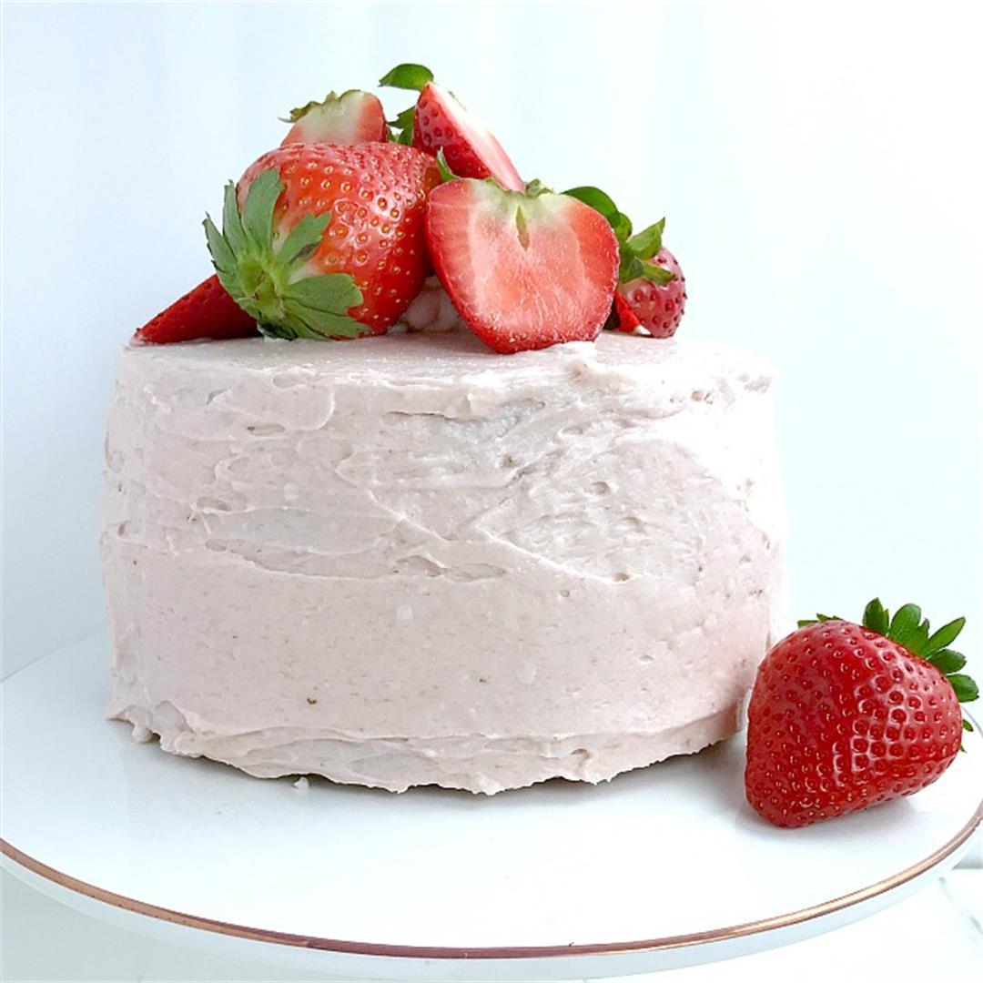 Strawberry Almond Flour Cake (SCD, Paleo, Gluten Free)