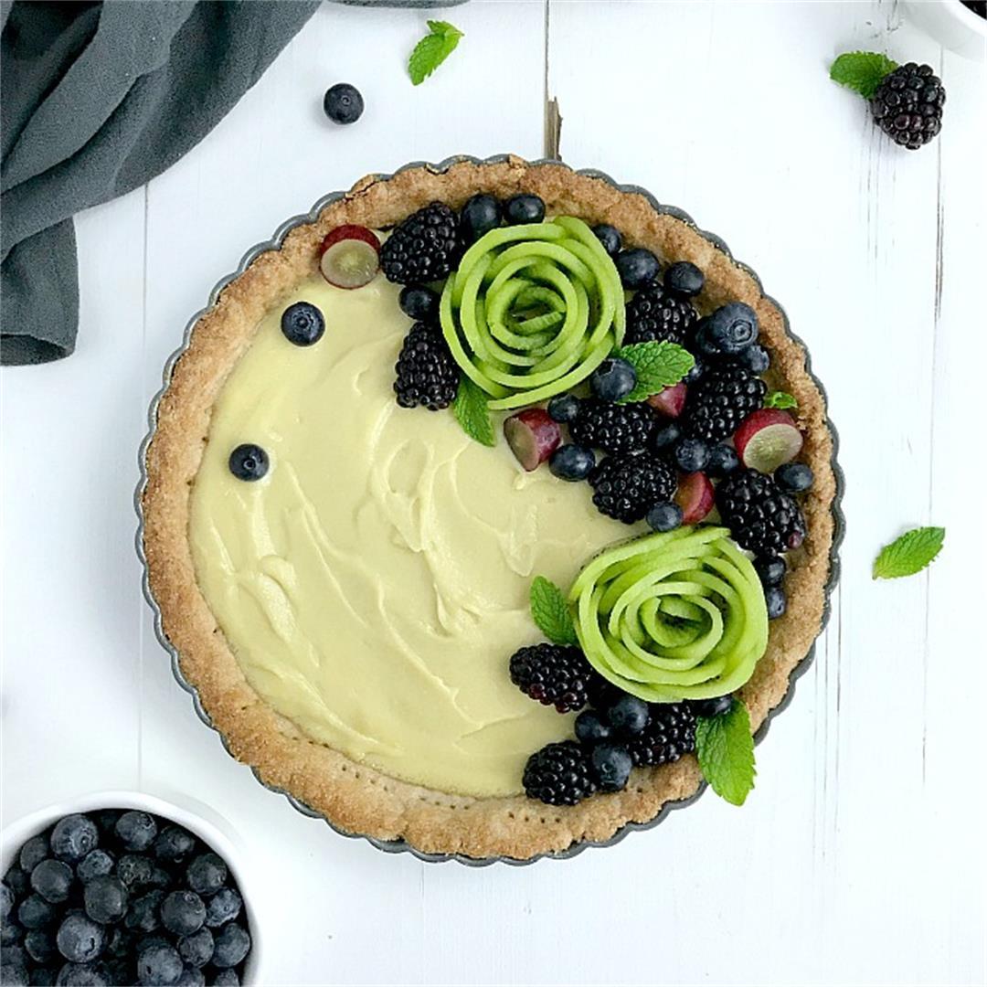 Vanilla Custard Tart (SCD, Paleo, Dairy Free, Gluten Free)