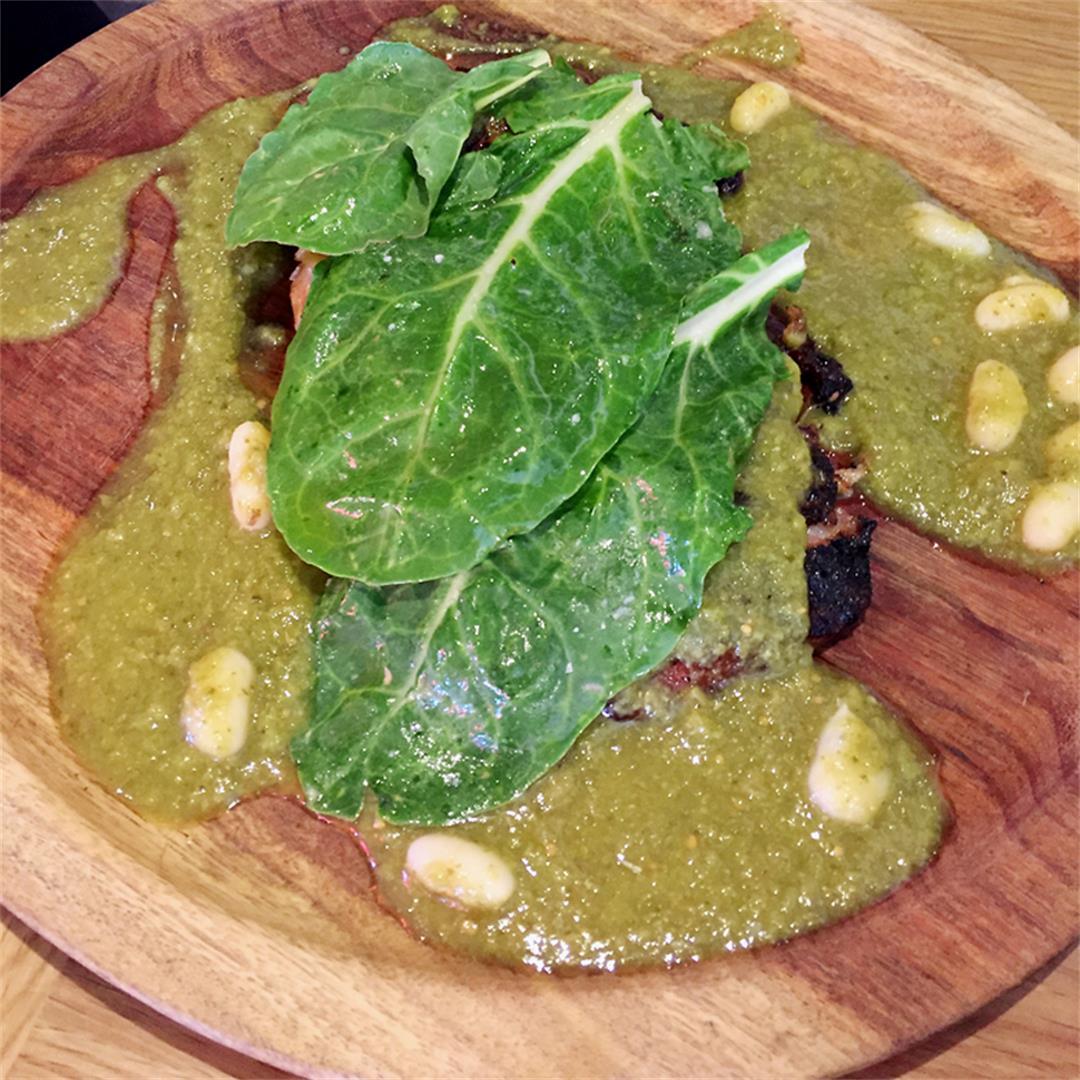 Thomas Keller's Pork Jowl Mole Verde