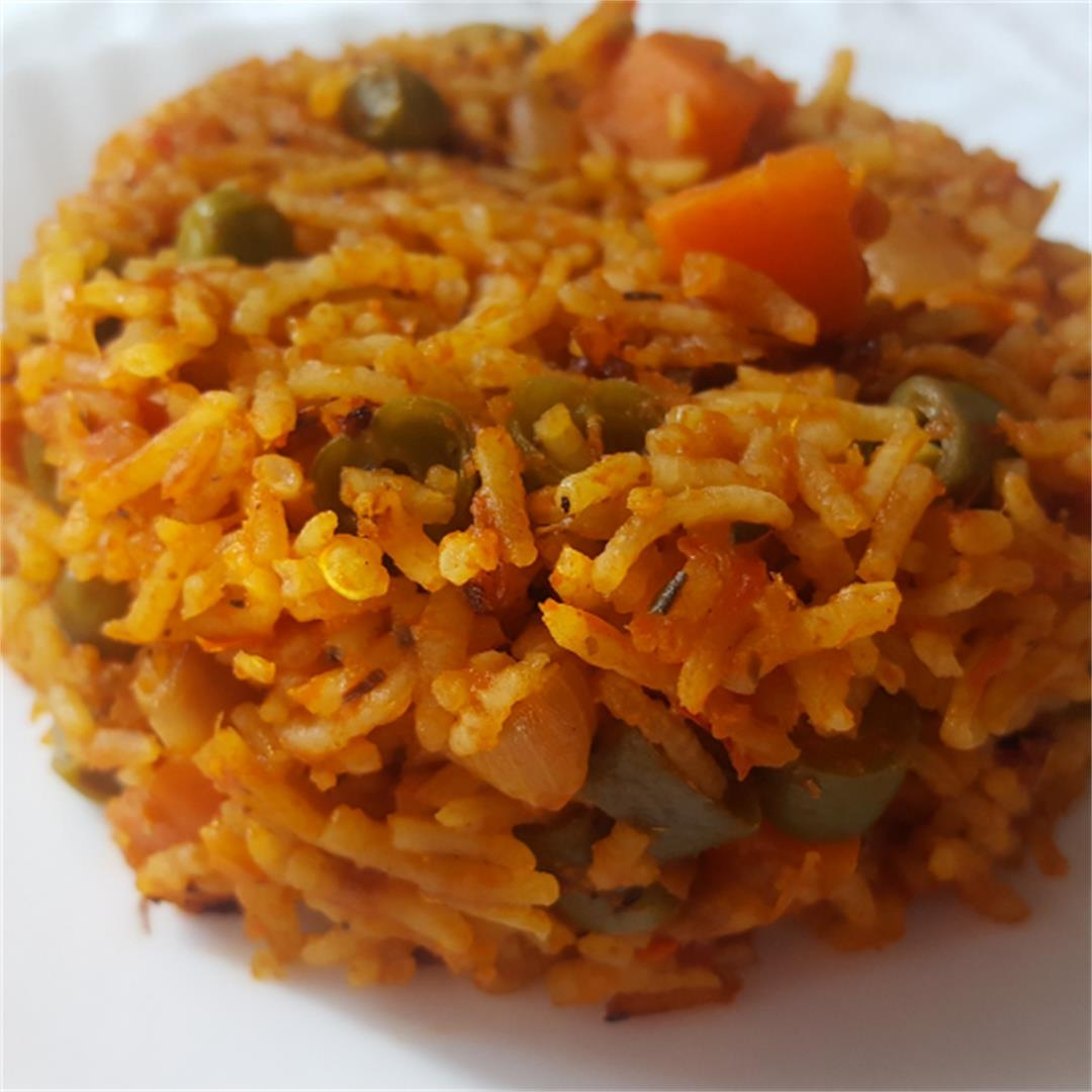 Vegetable Jollof rice