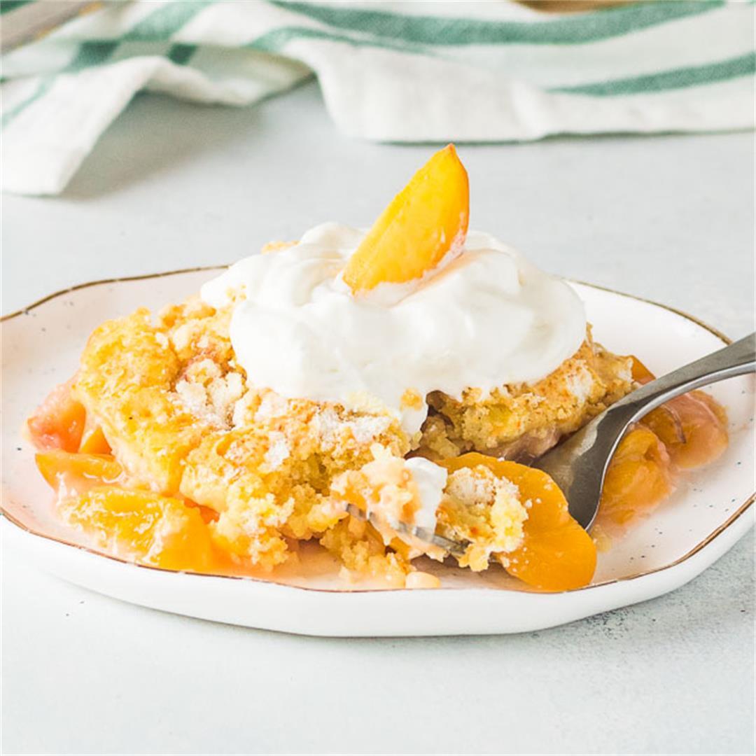 Fresh Peach Dump Cake