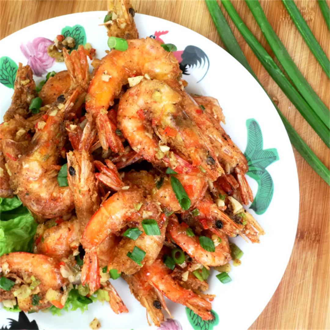 Salt and pepper shrimp 椒鹽蝦- How to cook (the best restaurant st