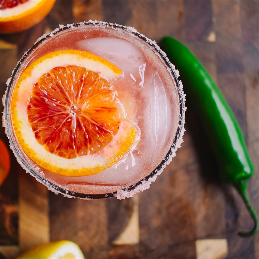 Low Carb Blood Orange Serrano Fizz