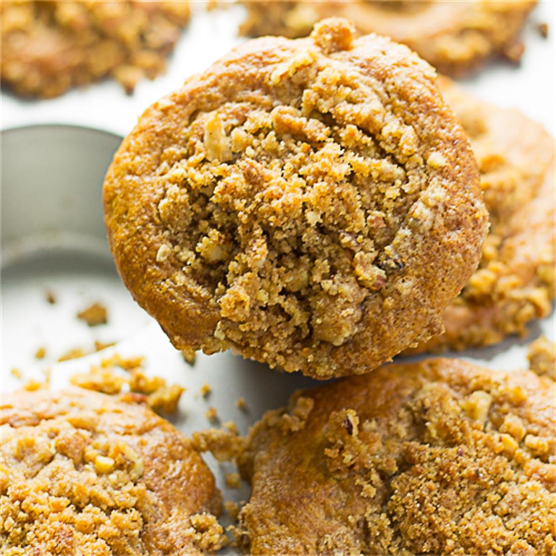 Banana Pecan Coffee Cake Muffins